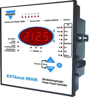 Power Factor Controller 380v vishay capacitors estamat mh n power factor controller mounting manual mv1171