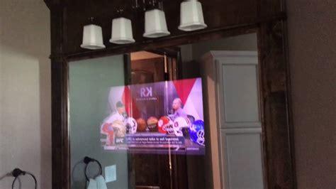 tv behind mirror bathroom tv behind mirror youtube