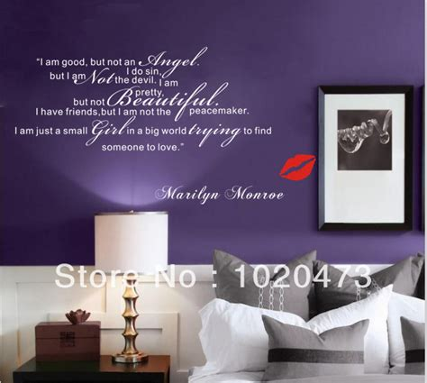 stickers quotes marilyn decor for bedroom room