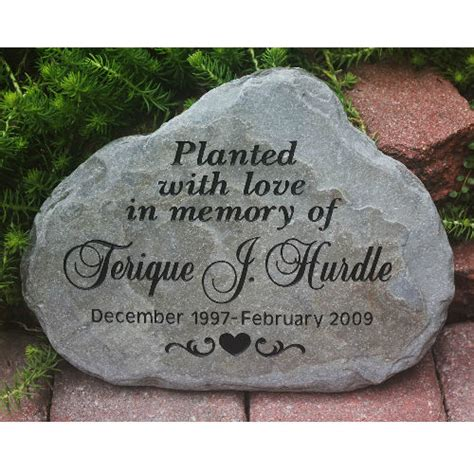 Engraved Garden Rocks Personalized Stepping Stones Custom Engraved Garden
