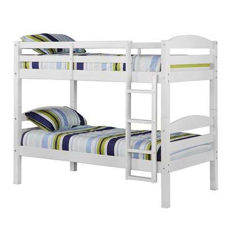 solid wood bunk beds twin over twin walker edison twin over twin solid wood bunk bed by oj