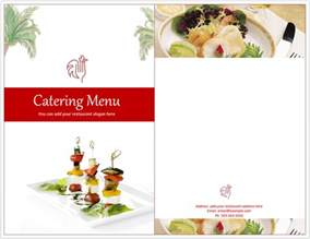 Catering Menu Design Templates by Catering Menu Template Format Template
