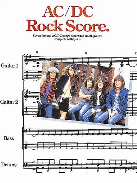 testo highway to ac dc rock score guitar tablature back in black