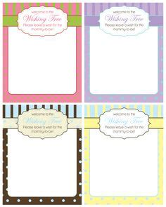 wishing tree tags template free baby shower labels in printable pdf baby shower