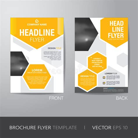 corporate flyer design vector corporate hexagonal brochure flyer design layout template