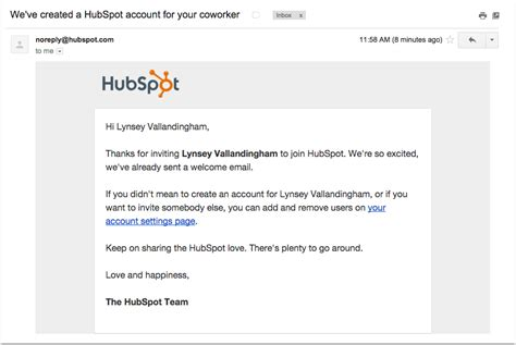 How To Add Users To Your Hubspot Account Hubspot Template Setup