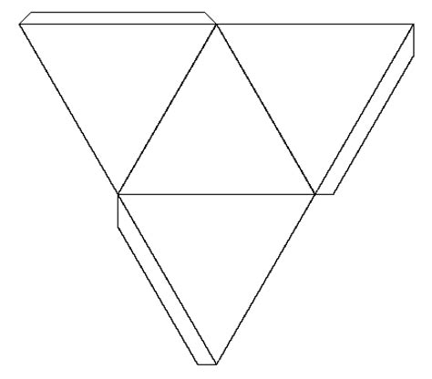 How To Make A Three Sided Pyramid Out Of Paper - lesson 10 solids surface areas maths