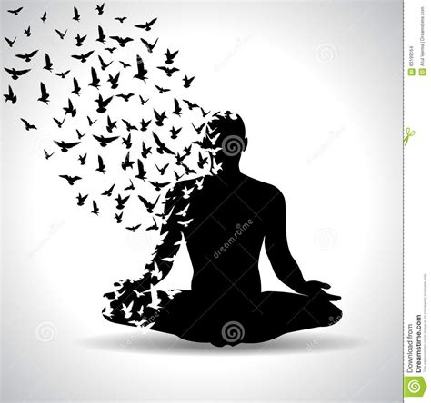 imagenes yoga blanco y negro yoga pose with birds flying from human body black and