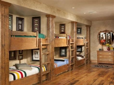 bunk room lodge style bunk beds panda s house