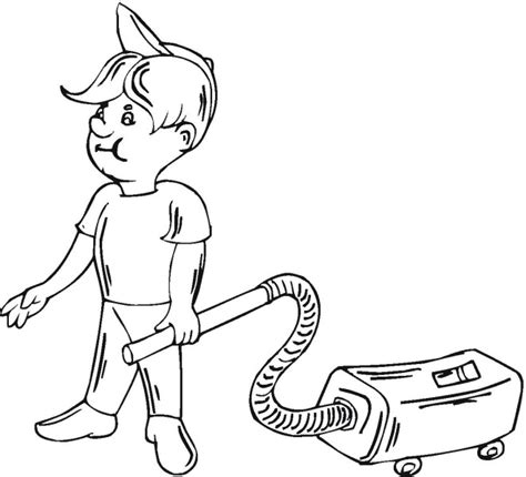 coloring pages vacuum cleaner vacuum cleaner free printable clipart