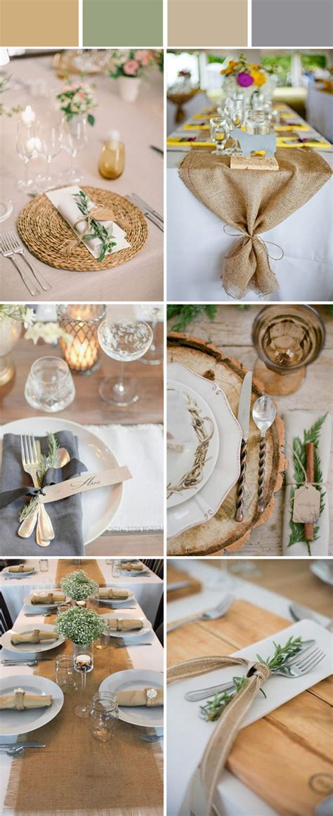 rustic wedding table ideas wedding table setting decoration ideas for reception