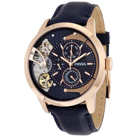 Fossil Wacth fossil townsman muli function navy blue s me1138 townsman fossil watches