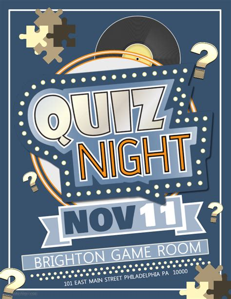 quiz night competition poster template contest posters