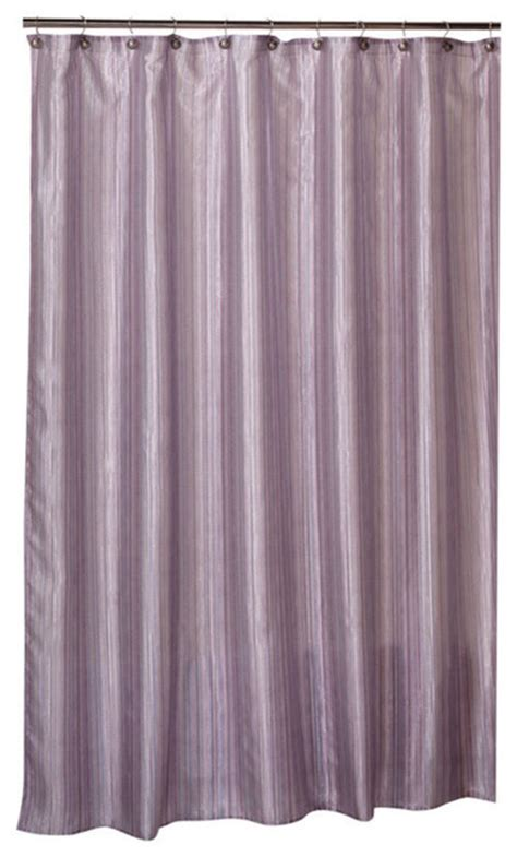 shimmer shower curtain shimmer stripes fabric shower curtain purple modern