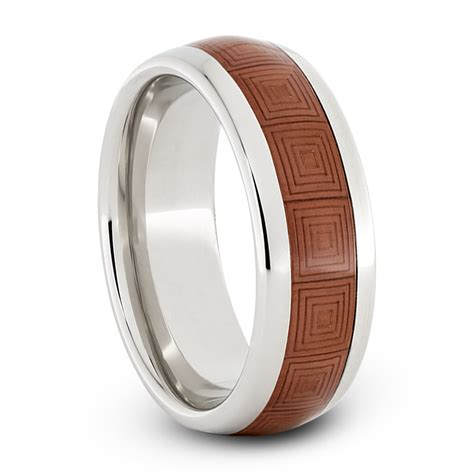 Wedding Band Box by Wedding Band In Serinium With Copper Inlay And Box Engraving