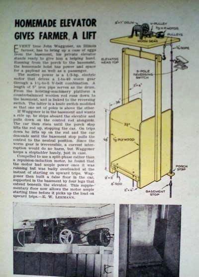 build  personal elevator homemade lift hoist