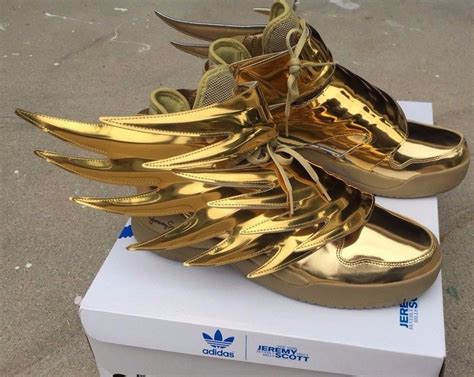 adidas jeremy scott wings 3 0 metallic gold batman shoes
