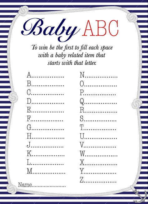 baby shower printables   perfect party