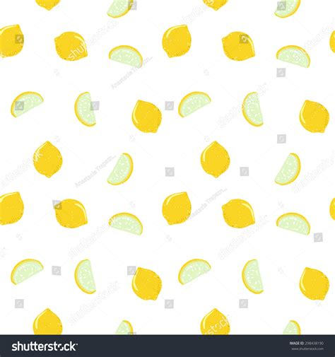 cute lemon pattern vector funny lemon seamless pattern trendy stock vector