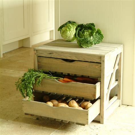 garden trading wooden vegetable store rack
