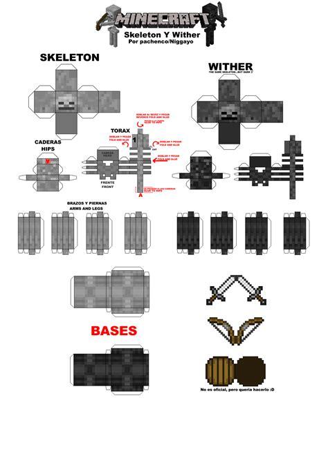Minecarft Papercraft - minecraft papercraft minecraft papercrafts skeletons y