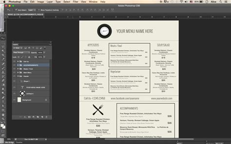 design menu in photoshop stron biz photoshop menu templates