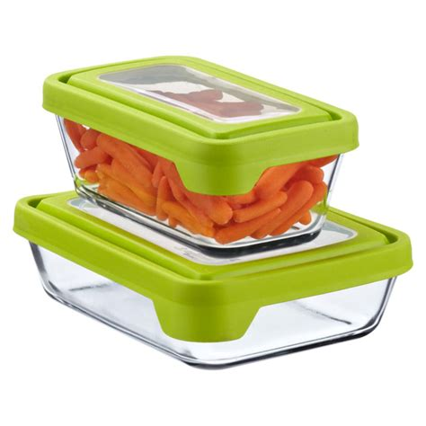 container for food storage anchor hocking glass trueseal rectangle food storage