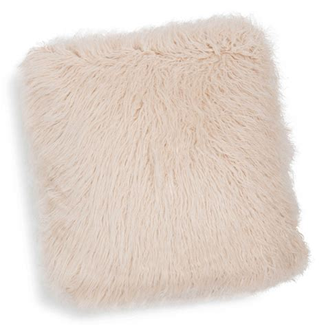 blush pink fur chair astrakan blush faux fur cushion in pink 45 x 45cm