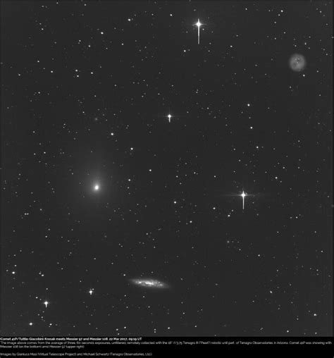 comet 41p comet 41p tuttle giacobini kresak meets messier 97 and
