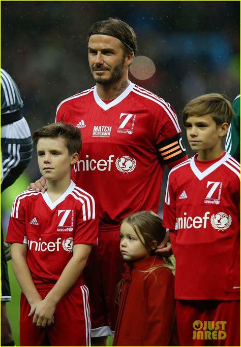david beckham charity biography full sized photo of david beckham brings his 4 kids to