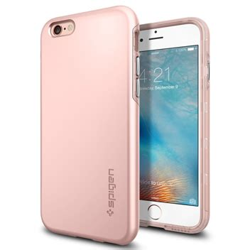 Spigen Thin Fit For Iphone 6 6s Metalic spigen thin fit hybrid iphone 6s plus 6 plus shell gold
