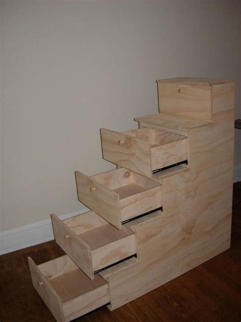 Bunk Bed With Step Drawers by Free Bunk Bed Plans With Drawers Woodworking Plans
