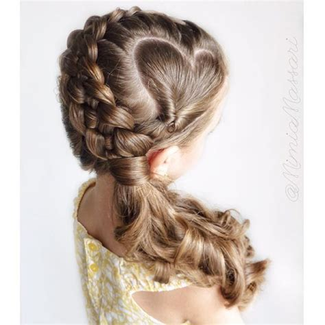 parting hair for micro braids heart parting into 5 strand dutch braid heart braided