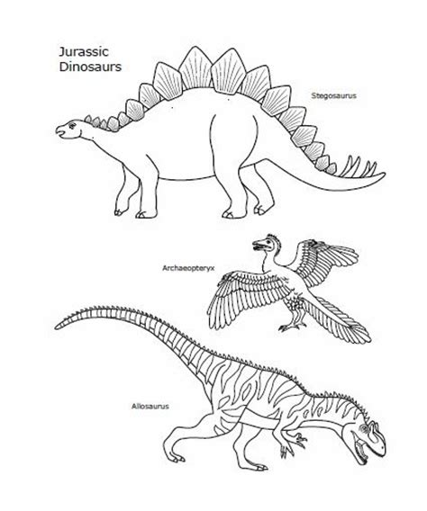 printable dinosaurs   jurassic period  color