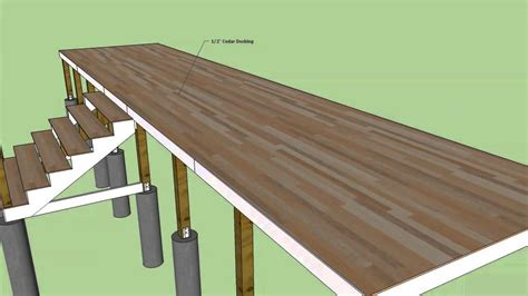 sketchup timber framed deck construction youtube