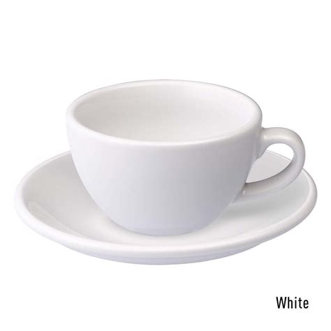 White Coffee 1 Renteng egg 150ml flat white cup saucer loveramics