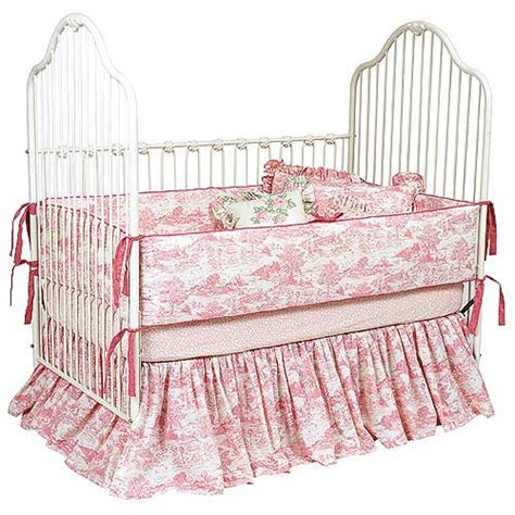 Pink Toile Crib Bedding Pink Toile Baby Bedding And Nursery Necessities In Interior Design Guide All Baby Bedding At