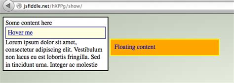 jquery floating div jquery show floating div on mouse stack overflow