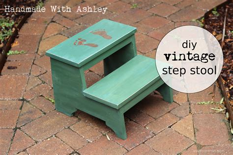 diy step stool white diy vintage step stool diy projects