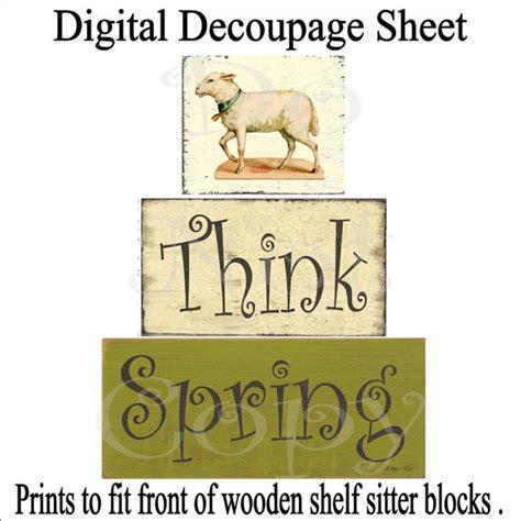 Decoupage Photos On Wood Blocks - digital wood blocks decoupage sheet think by