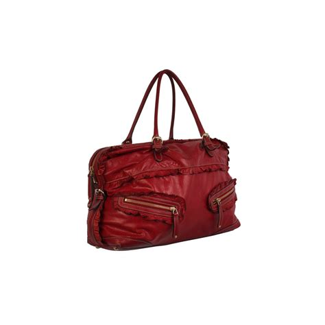 Gucci Sabrina Medium Boston Handbag by Gucci Leather Sabrina Medium Boston Bag Luxity