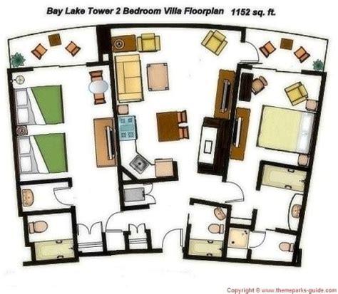 disney 2 bedroom villas bay lake tower at disney s contemporary resort 2 bedroom
