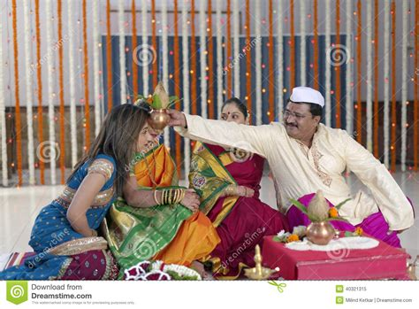 Wedding Blessing Rituals by Indian Hindu Wedding Rituals Stock Photo Image 40321315
