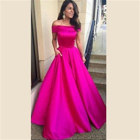 Pink Fuchsia Dress aliexpress buy fuchsia pink evening dresses