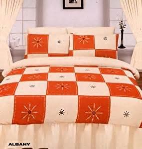 King Size Duvet Cover Orange Albany Orange Duvet Quilt Cover Set King Size