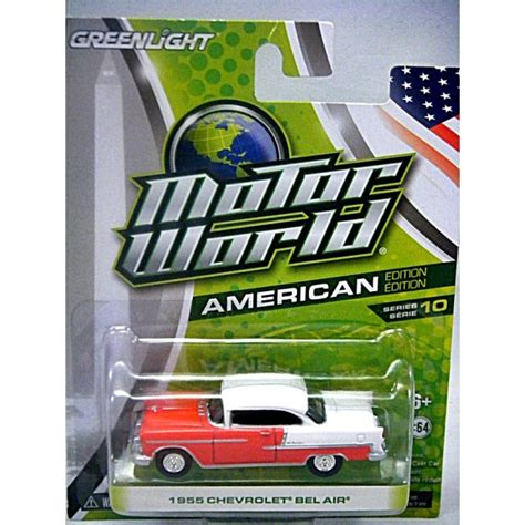 greenlight motor world 1955 chevrolet bel air global diecast direct