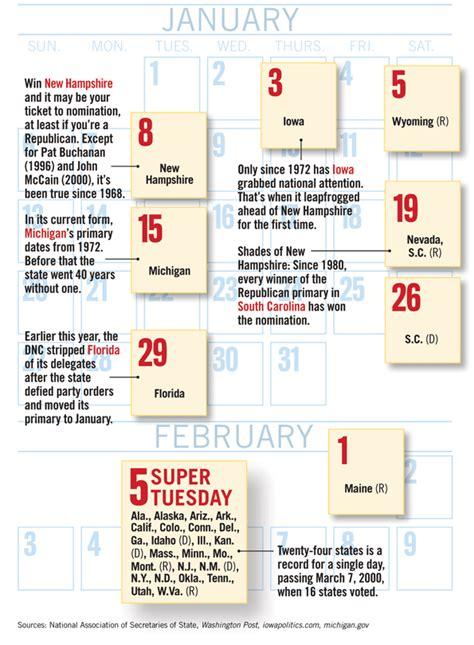 2016 Election Calendar Primary Election Printable Calendar Template 2016