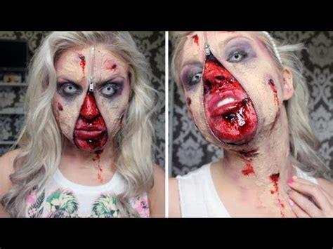 zombie zipper tutorial ugly zombie unzipped sfx tutorial halloween youtube