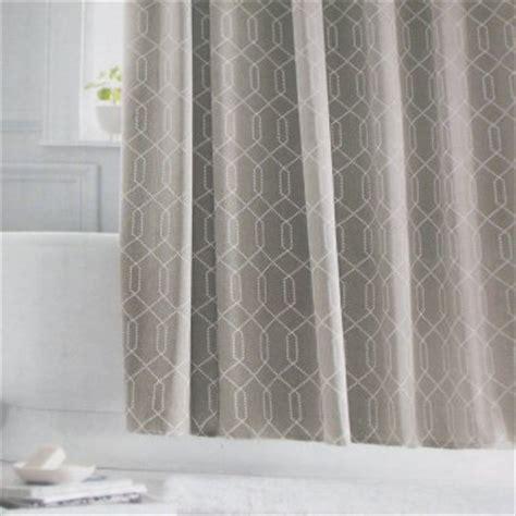 threshold grey gray white fabric shower curtain target