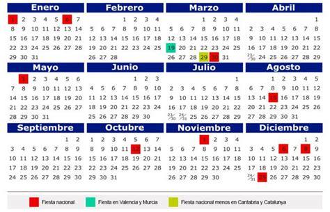 Calendario 2018 Laboral España Calendario Laboral 2018 Todos Los D 237 As Festivos